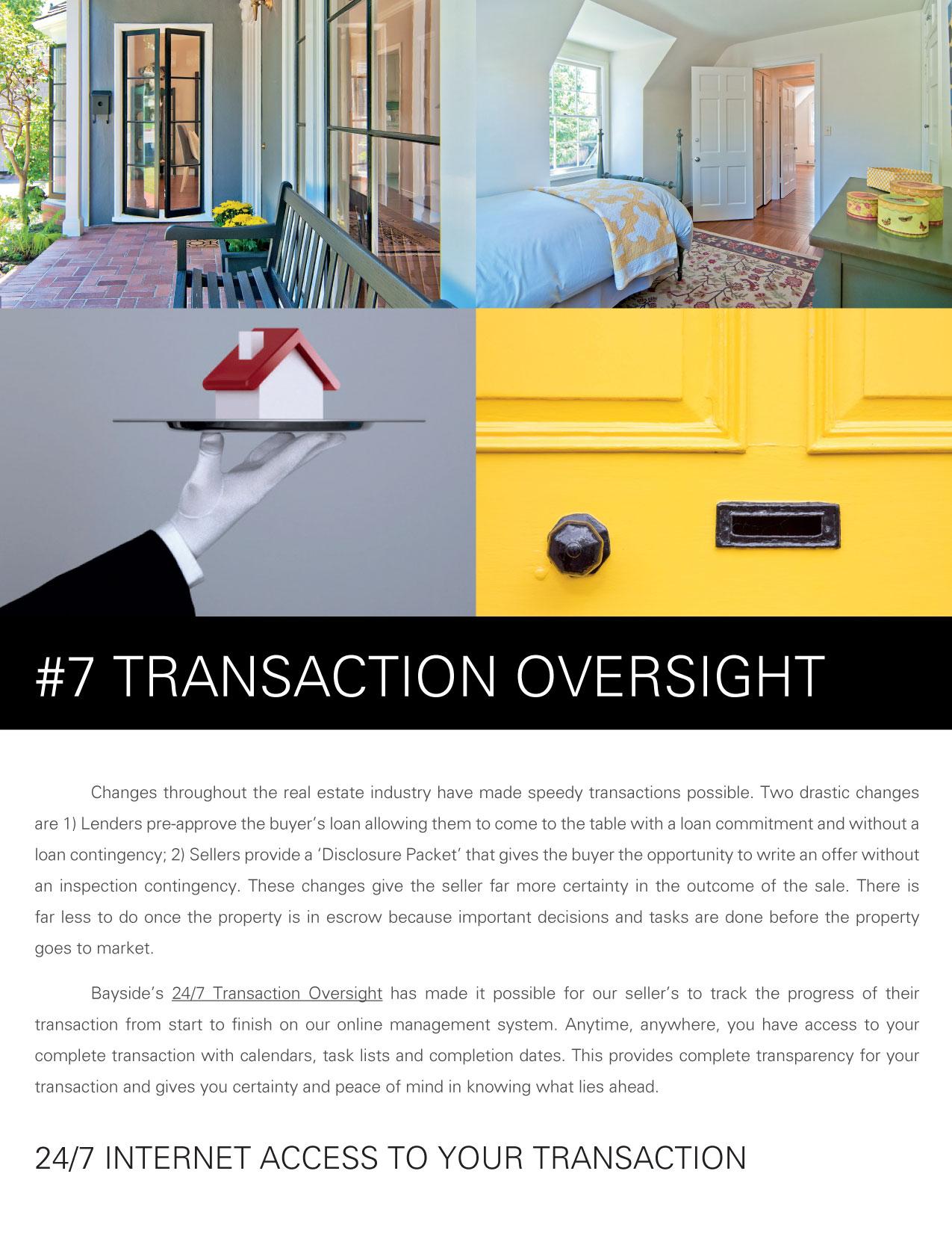 Listing Presentation - #7 Transaction Oversight